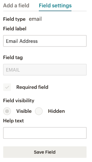 Set preferences for your field