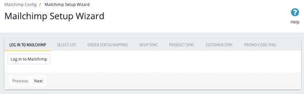 PrestaShop Mailchimp Setup Wizard - Log in to Mailchimp tab