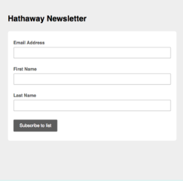 create a hosted signup form