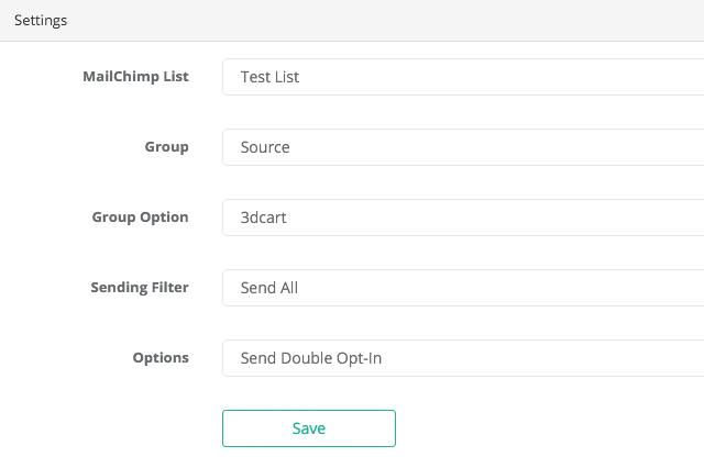Mailchimp App For 3dcart_2