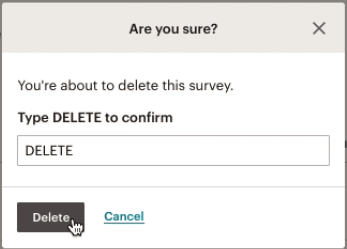 Survey-delete-modal