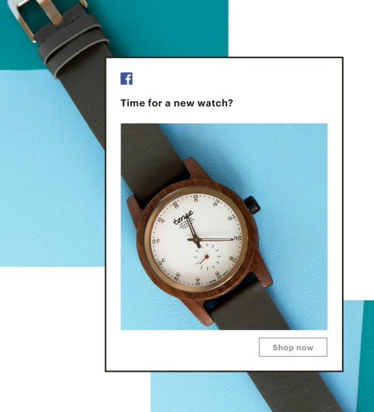 Example of a single-image Facebook ad that includes a shop now button
