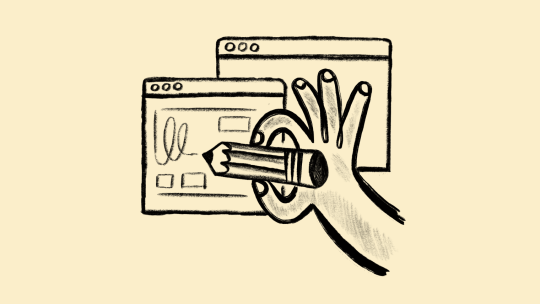 Hand drawing website plans/storyboard/wireframes.