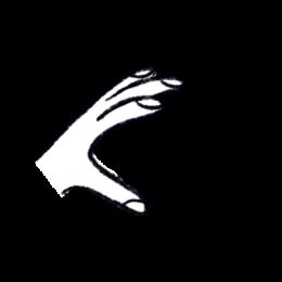 Illustration of an open left hand