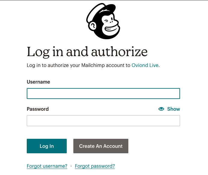 Asset 2 - Oviond Integration - Effortlessly authorize your Mailchimp account with Oviond