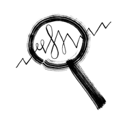 Doodle of a magnifying glass.