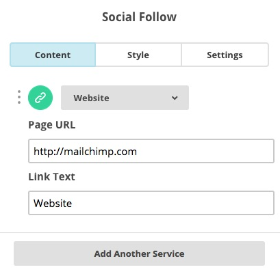 Add and remove channels to Social Follow