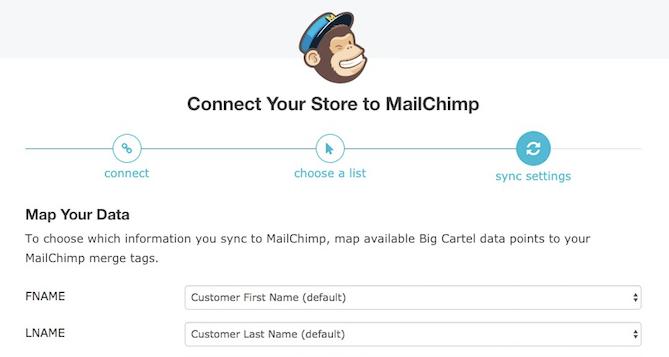 Cursor clicks drop down menus to map fields.