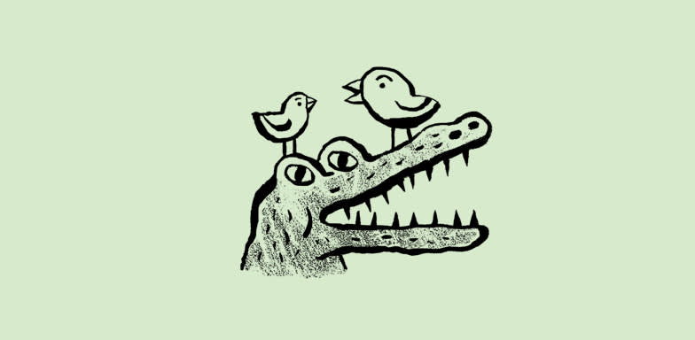 Doodle of an alligator.