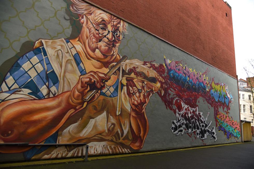 Photo of Leicester Cultural Quarter street art