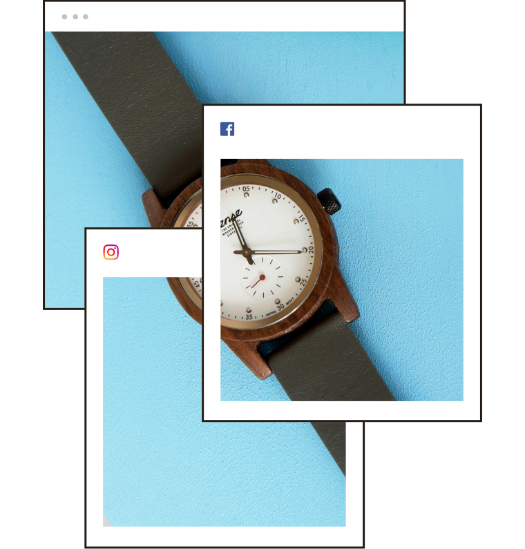 A watch shown across many, many channels