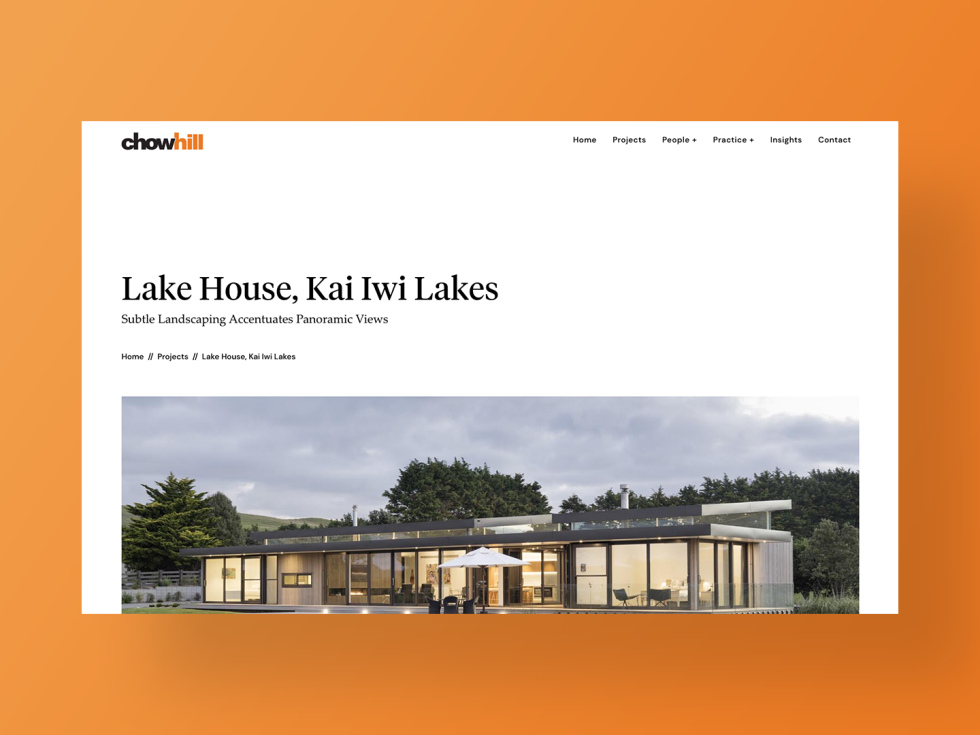Image of chowhill website