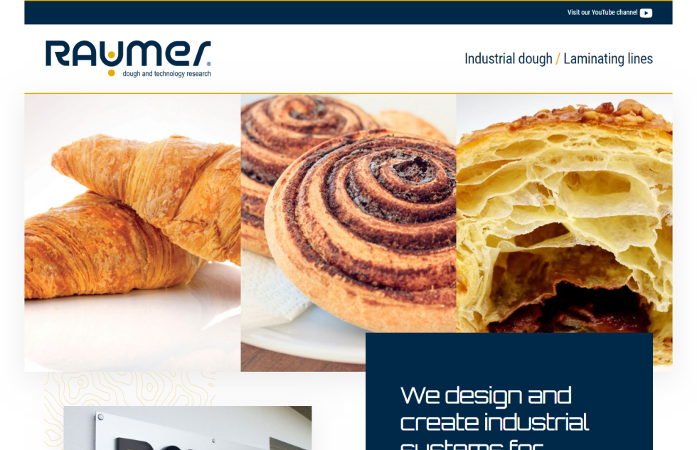 Image of pastries on Raumer website