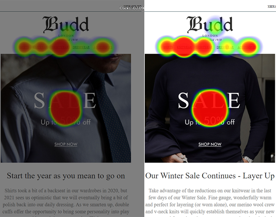 Asset 2 - Email Heatmaps Integration - Compare tool example budd