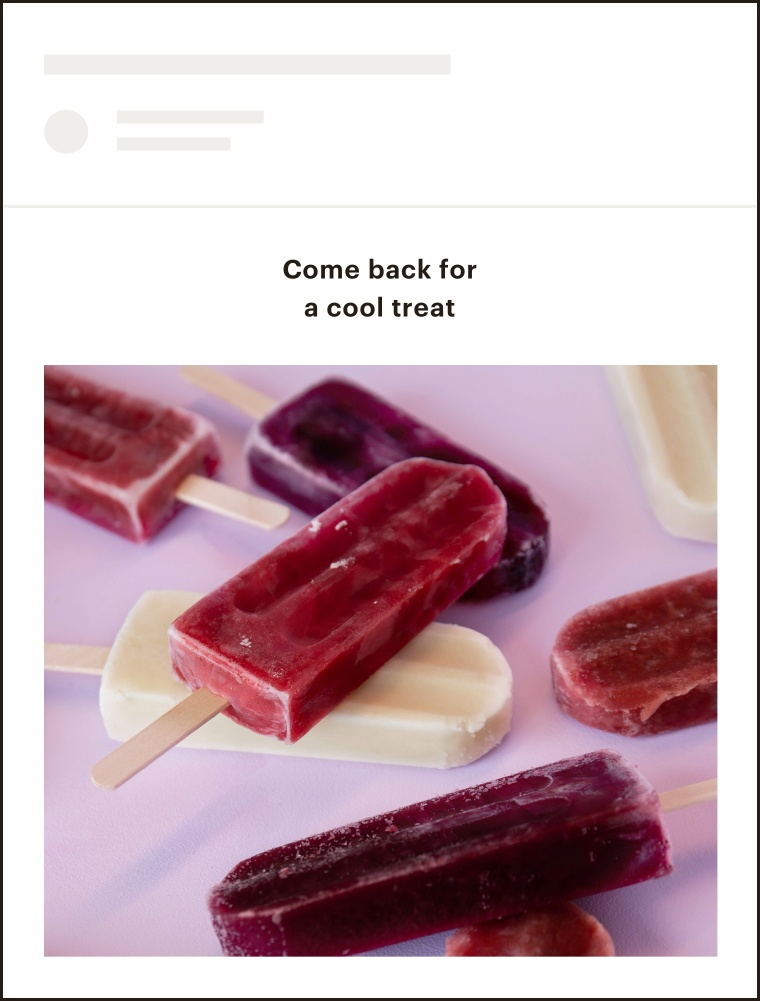 A product retargeting email.