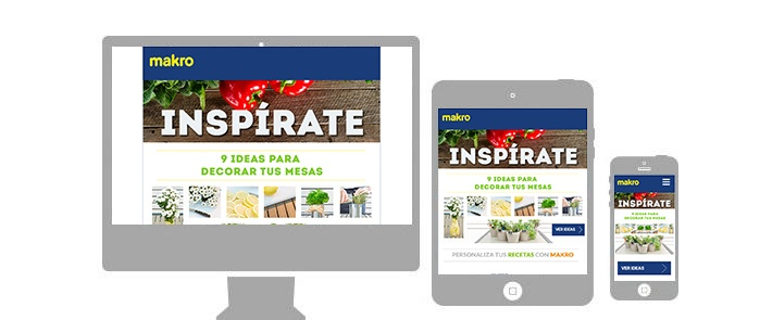 Image of Makro advertisement on multiple devices