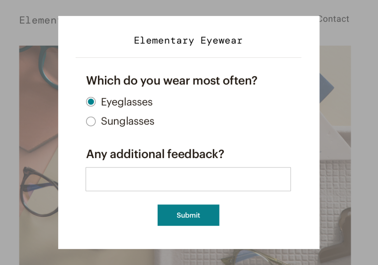 Surveys UI for fall feature page 1300 width