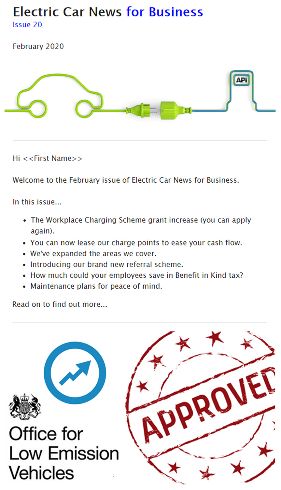 Image of Business to business campaign for electric car charging.