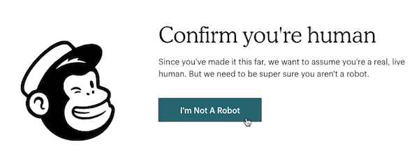 Form where the confirm humanity box is clicked and cursor clicks to confirm signup.