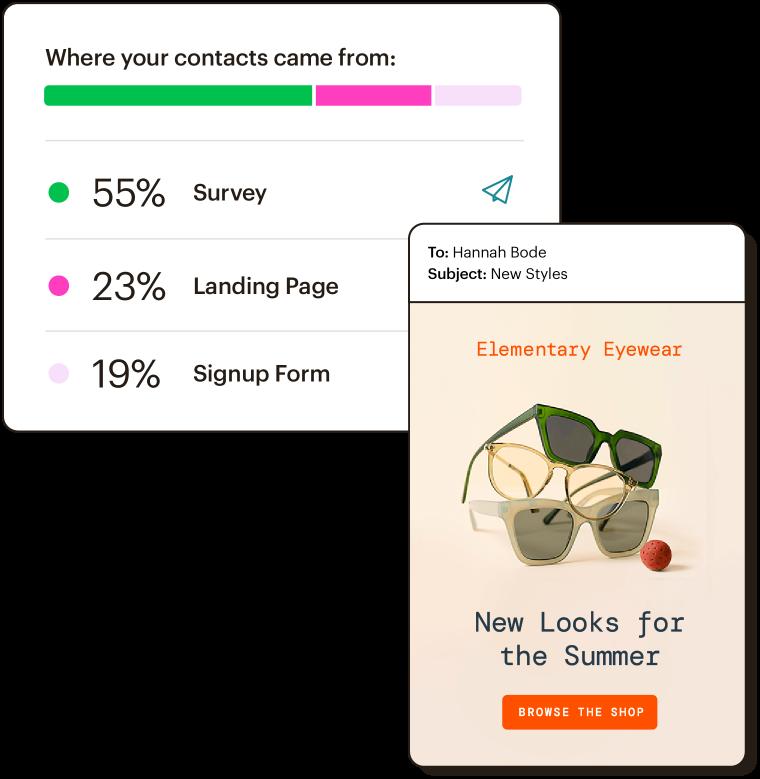 Ejemplo de diseño de un anuncio para un nuevo producto generado por el Asistente creativo.