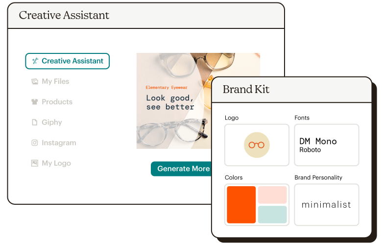 Creative Assistant Brand Kit Abstract UI Elementary Eyewear Static