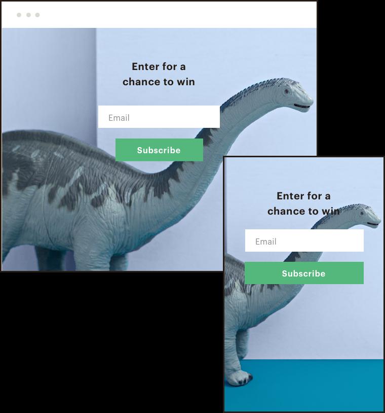 Dinosaur overlapped images
