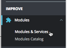 Prestashop Modules and Services cursor click