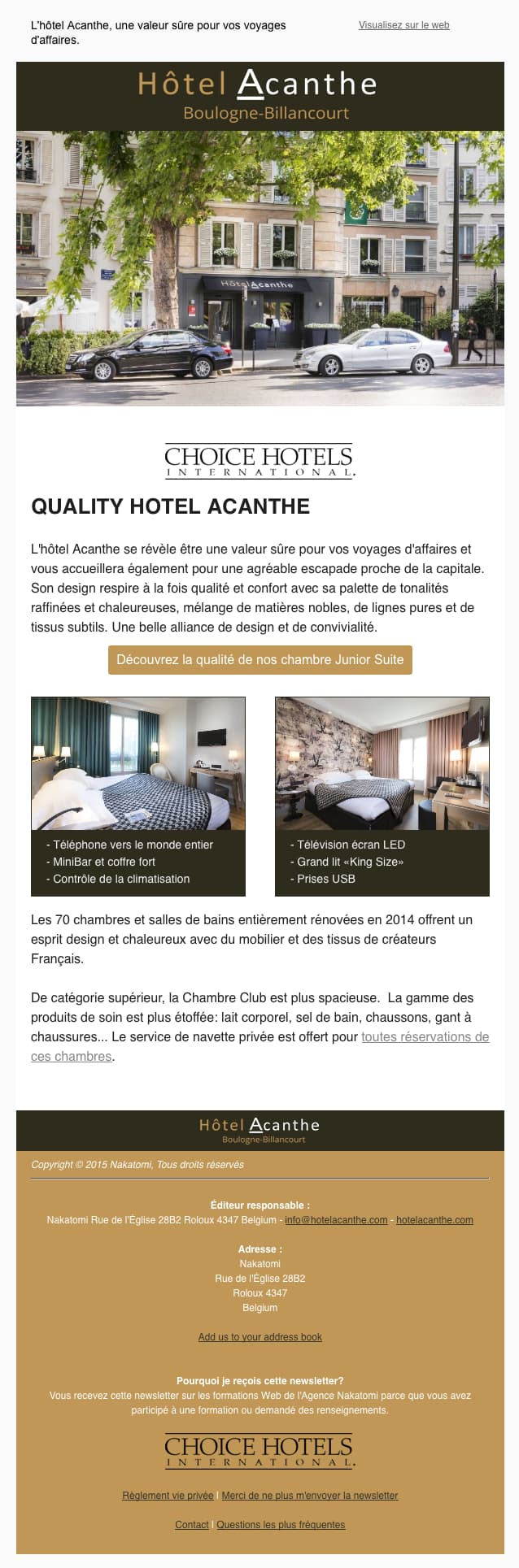 Image of Hotel Ancanthe newsletter