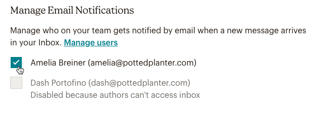 manage email notifications