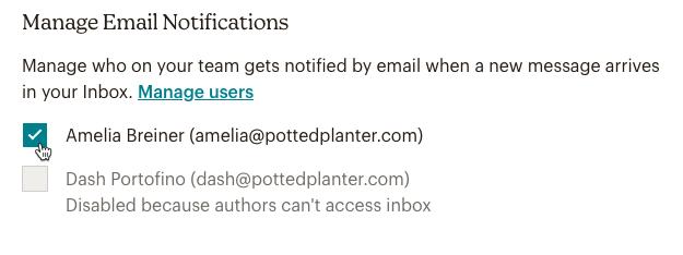 gestionar las notificaciones por correo electrónico