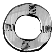 Illustration of a circular float