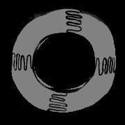 Illustration of a circular float