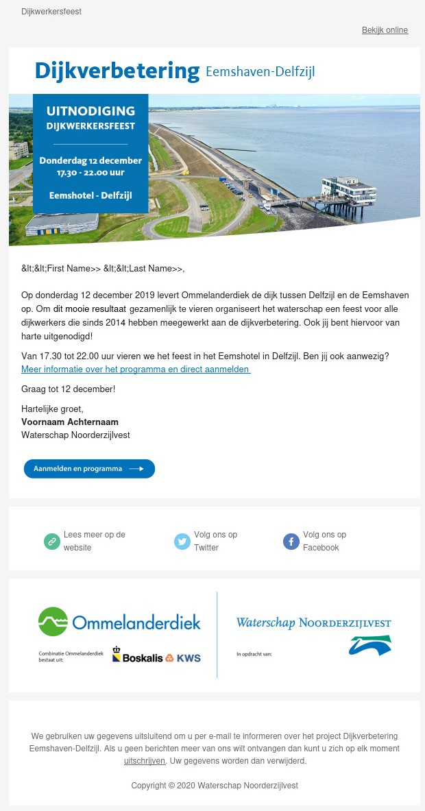 Example of email campaign.