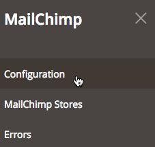 El cursor hace clic en Configuration (Configuración).