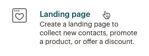 El cursor hace clic en página de destino