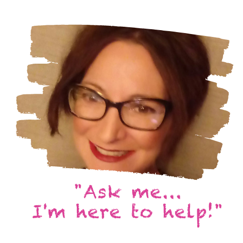 """Image of a person in glasses with the text """"ask me... I'm here to help!"""""""