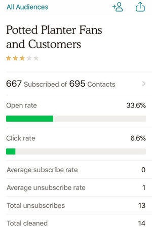 Mobile iOS Audience page