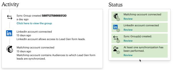 LinkedIn Lead Gen DashboardUpdate