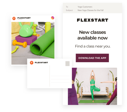 An example of a marketing campaign created with Mailchimp