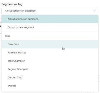 El cursor hace clic - Etiquetas - Desplegable de segmento