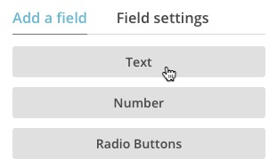 A text field in the form builder