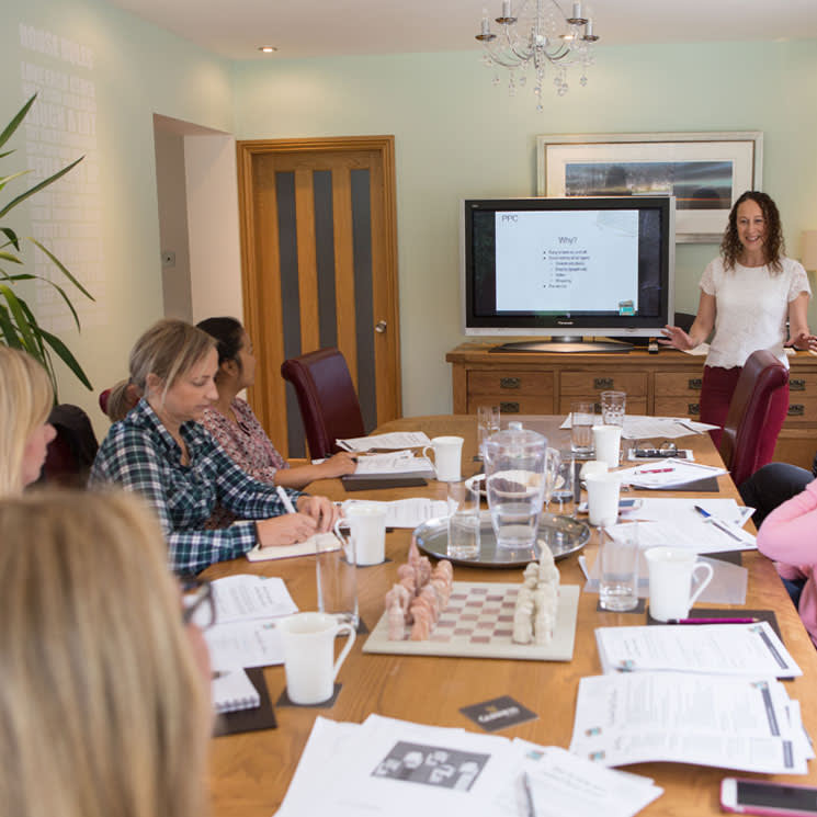 Training in a variety of topics to enable clients to do their own website and marketing management