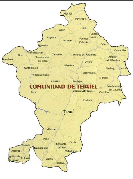 comarca comunidad de teruel portalrubio