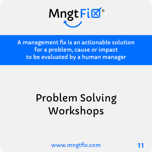 Management Fix 11 Problem Solving Workshops