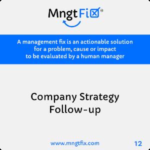 Management Fix 12 Company Strategy Follow-up