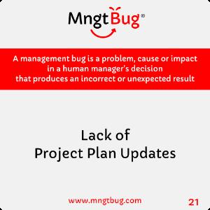 Management Bug 21 Lack of Project Plan Updates
