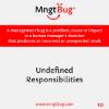 Management Bug 10 Undefined Responsabilities