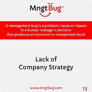 Management Bug 13 Lack of Company Strategy