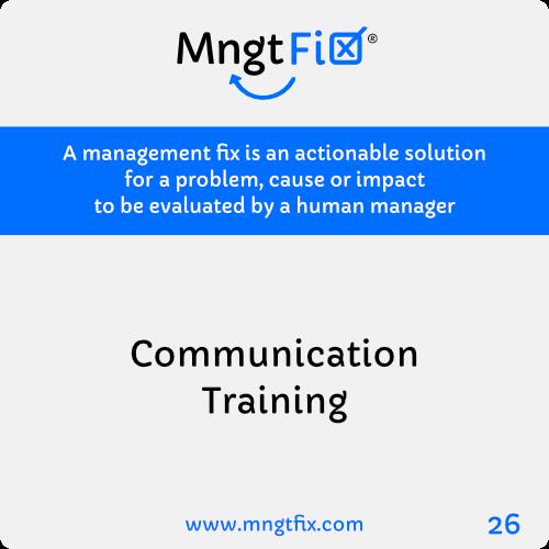 Management Fix 26 Communication Training