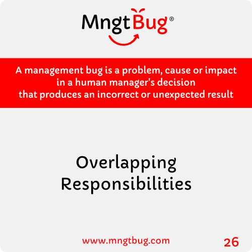 Management Bug 26 Overlapping Responsibilities